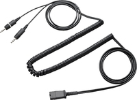 Plantronics Quick Disconnect cable to dual 3.5mm Black Telephony Cable