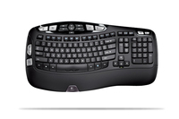 Logitech Wireless Keyboard K350, US RF Wireless Black keyboard