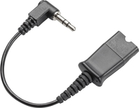 Plantronics Quick Disconnect cable to 3.5mm 3.5mm Black cable interface/gender adapter