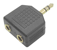 Siig CB-AU0412-S1 Black cable splitter or combiner