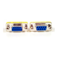 StarTech.com Slimline Gender Changer DB9F to DB9F cable interface/gender adapter