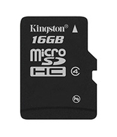 Kingston Technology 16Gb microSDHC 16GB MicroSDHC Flash Memory