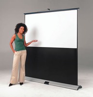 "Metroplan 201465 89"" 4:3 Black,Silver,White projection screen"