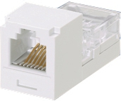 Panduit CJ64WHY RJ-11 White cable interface/gender adapter