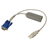 Raritan P2CIM-AUSBDU Bulk pack 0.3m Multicolor, Grey KVM cable