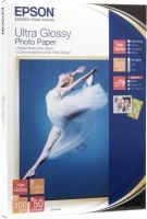 Epson Ultra Glossy Photo Paper, 100 x 150 mm, 300g/m², 50 Sheets