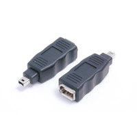 StarTech.com IEEE-1394 Firewire 4-6 Adapter M/F Black cable interface/gender adapter