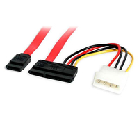 StarTech.com 18 inch Serial ATA Data Cable with LP4 Adapter Red cable interface/gender adapter