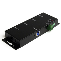 StarTech.com ST4300USBM USB 3.0 (3.1 Gen 1) Type-B 5000Mbit/s Black interface hub