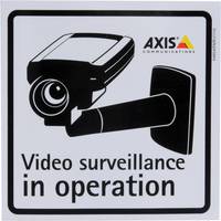 Axis Surveillance Stickers (10-Pack) Black,Grey Decorative Sticker