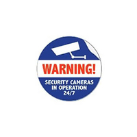Axis Surveillance Sticker (pack of 50) Blue,Red,White decorative sticker