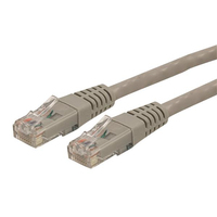 StarTech.com 25 ft. Gray Molded Category 6 Patch Cable - ETL Verified 7.62m Grey networking cable