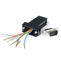 StarTech.com GC98MF DB9 RJ45 Black cable interface/gender adapter