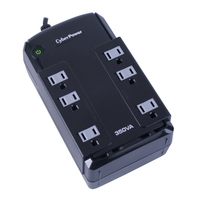 CyberPower CP350SLG Standby (Offline) 350VA 6AC outlet(s) Compact Black uninterruptible power supply (UPS)