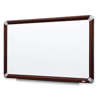 3M M2418FMY White,Wood dry erase board