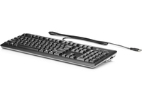 HP USB SmartCard CCID Keyboard USB QWERTY English Black,Silver keyboard