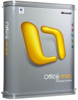 Microsoft Office Mac 2011 Standard, SA, 1 PC 1user(s)