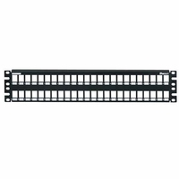 Panduit 48-port metal modular patch panel accepts all NetKey Modules 2U Patch Panel
