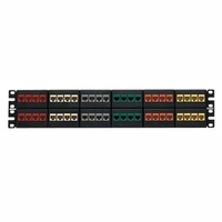Panduit 48-port modular patch panel with twelve removable four position modular faceplates 2U Patch Panel