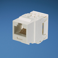 Panduit Category 6, 8 position, 8 wire keystone jack module White
