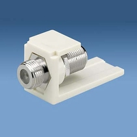 Panduit Coax jack, F-type, white Coaxial Connector