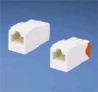 Panduit UTP RJ-45 TG-MiniJack Cat5E Orange RJ-45 Orange cable interface/gender adapter