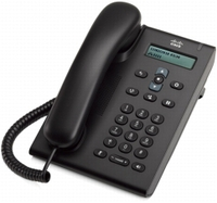 Cisco 3905 Analog telephone Caller ID Charcoal