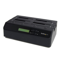 StarTech.com SATDOCK4U3RE HDD duplicator 3copies Black media duplicator