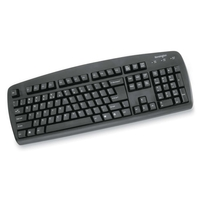 Kensington 64338 USB+PS/2 QWERTY Black keyboard