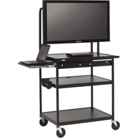 "Bretford FP42MUL-P5BK 42"" Portable Black flat panel floorstand"