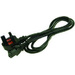 2-Power IEC C13 Lead with UK Plug power cable Black C13 coupler